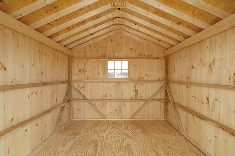 12x24 garage interior custom barns and buildings the for Board and batten shed plans