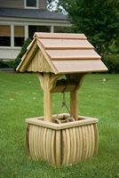 Outdoor Furniture - Wood 2' Square Stave Wishing Well