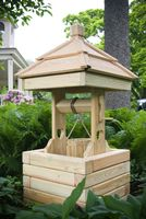 Outdoor Furniture - Wood 2' Square Wishing Well