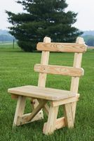 Outdoor Furniture - Wood 23 Bench w. Back