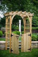 Outdoor Furniture - Wood 3'x4' Roman Arch w Gate