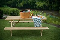 Outdoor Furniture - Wood 3'x6' Picnic Table