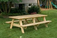 Outdoor Furniture - Wood 3'x8' Picnic Table