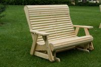 Outdoor Furniture - Wood 4' Rollback Glider