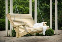 Outdoor Furniture - Wood 4' Rollback Swing