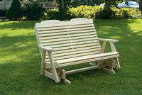Outdoor Furniture - Wood 4' Traditional Glider