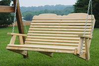 Outdoor Furniture - Wood 4' Traditional Swing