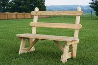 Outdoor Furniture - Wood 42 Bench w. Back