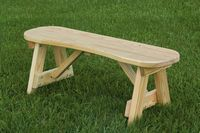 Outdoor Furniture - Wood 42 Curved Seat Bench