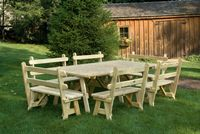 Outdoor Furniture - Wood 4'x8' Picnic Table w 42 Benches