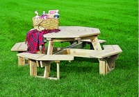 Outdoor Furniture - Wood 5' Octagon Picnic Table