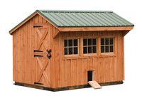 8x10 Quaker Chicken Coop