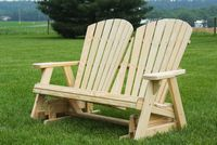 Outdoor Furniture - Wood Adirondack Glider