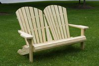 Outdoor Furniture - Wood Adirondack Love Seat
