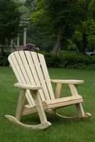 Outdoor Furniture - Wood Adirondack Rocker