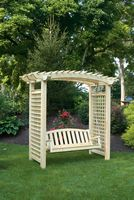 Outdoor Furniture - Wood Bandywine Arbor w. Swing