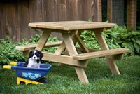 Outdoor Furniture - Wood Child's Table