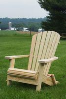 Outdoor Furniture - Wood Folding Adirondack Chair