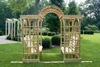 Outdoor Furniture - Wood Martha's Arbor w. Lattice