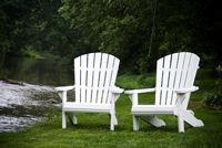 Outdoor Furniture - Wood Painted Adirondack Chair