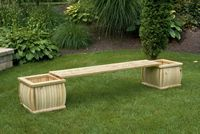 Outdoor Furniture - Wood Planter Bench