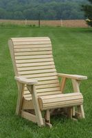 Outdoor Furniture - Wood Rollback Chair Glider