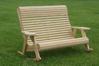 Outdoor Furniture - Wood Rollback Love Rocker