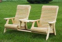 Outdoor Furniture - Wood Rollback Tete-a-Tete