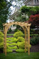 Outdoor Furniture - Wood Roman Arch Arbor Larger