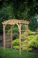 Outdoor Furniture - Wood Roman Arch Arbor