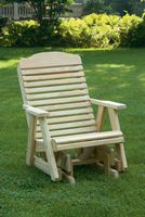 Outdoor Furniture - Wood Traditional Chair Glider