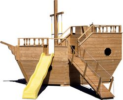 Wooden Playground Equipment - Medium Boat