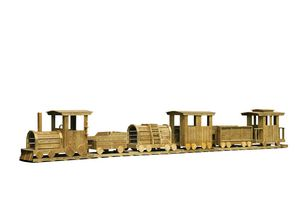 Wooden Playground Equipment - Train Set - 6 Piece