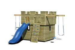 Wooden Playground Equipment - Medium Castle