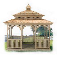Gazebo - Wood Rectanlg Pagoda Gazebo