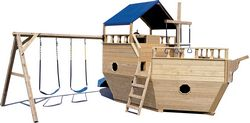 Wooden Playground Equipment - Small Boat with Canopy