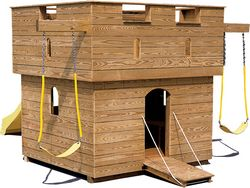 Wooden Playground Equipment - Small Castle