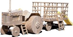 Wooden Playground Equipment - Tractor and Wagon