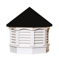 Cupola offered by The Carriage Shed - Vinyl Cupola with Black Top