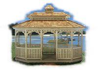 Gazebo - Wood Oval Pagoda Gazebo
