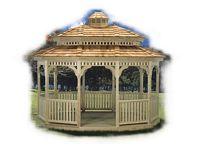 Gazebo - Wood Standard Oval Pagoda Gazebo