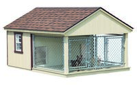 Dog Kennel - Double Dog Kennel - 8 x 10