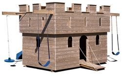 Wooden Playground Equipment - Large Castle