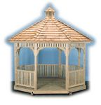 Gazebo - Wood Octagon Victorian Gazebo
