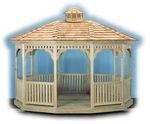 Gazebo - Wood Standard Oval Gazebo
