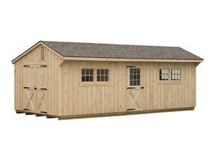 Board & Batten Shed - Manor Style Board & Batten Shed - 10 x 30
