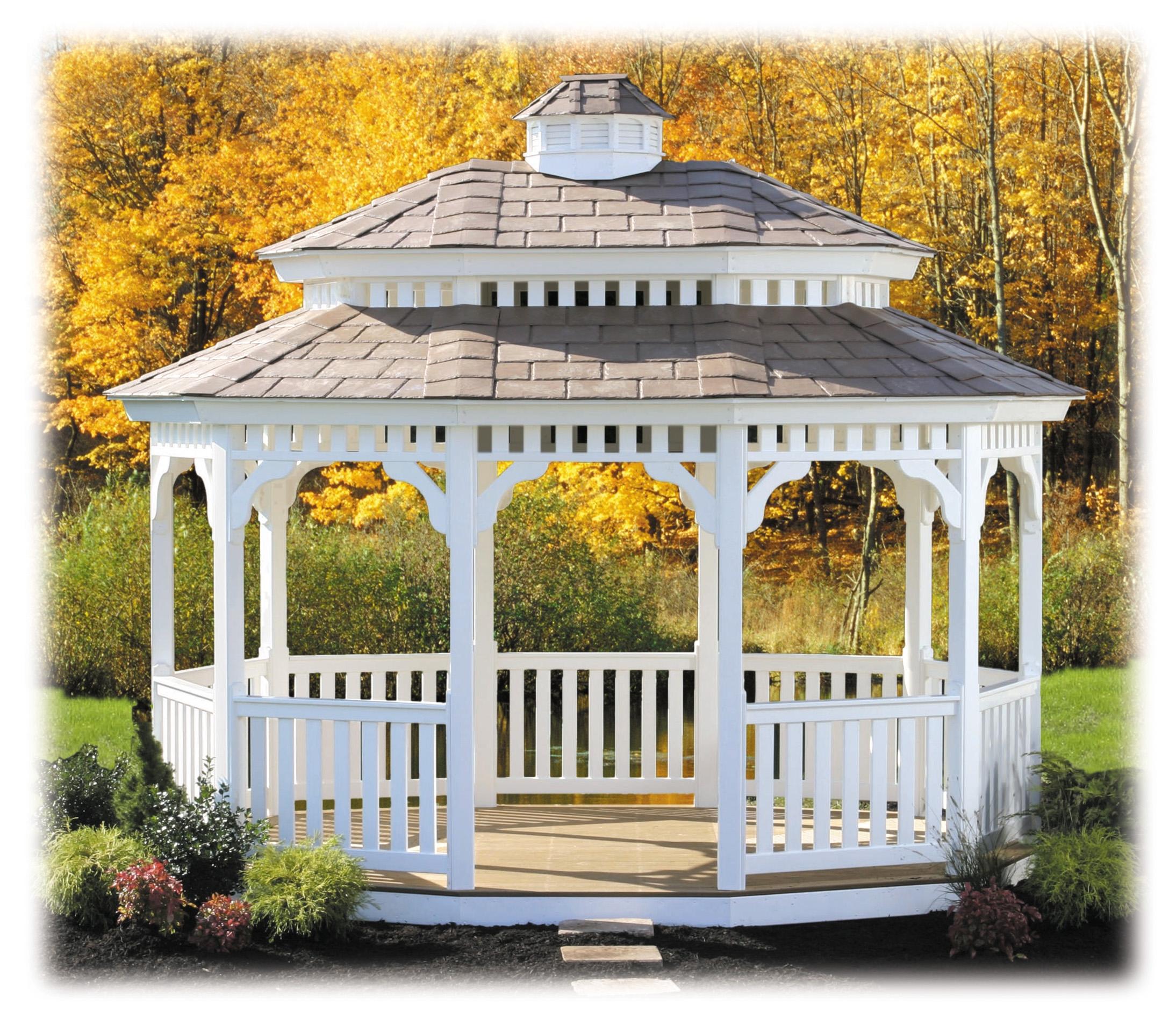 15 standard oval pagoda vinyl custom barns and buildings for Pagoda house plans
