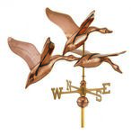 Copper Weathervane - Three Geese
