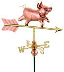 Weathervane - Whimsical Pig Weathervane