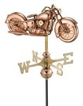 Copper Weathervane - Motorcycle
